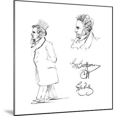 Ludwig Van Beethoven (1770-182), German Composer--Mounted Giclee Print