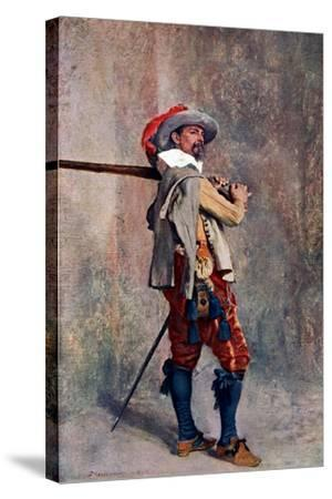 A Musketeer, C1600-1650-Jean Louis Ernest Meissonier-Stretched Canvas Print