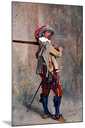 A Musketeer, C1600-1650-Jean Louis Ernest Meissonier-Mounted Giclee Print