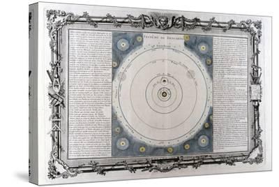 Descartes' System of the Universe, 17th Century--Stretched Canvas Print