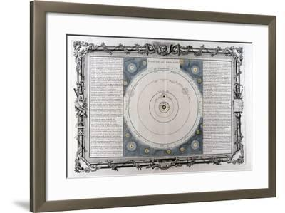 Descartes' System of the Universe, 17th Century--Framed Giclee Print