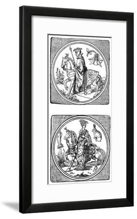 Ancient Playing Cards: King and Queen--Framed Giclee Print