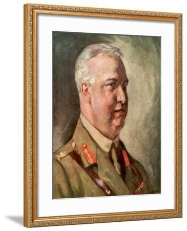 Sir Arthur William Currie, Canadian First World War General--Framed Giclee Print