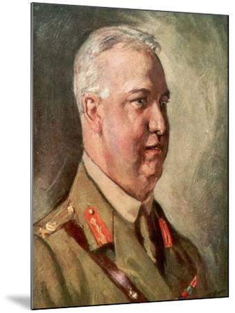 Sir Arthur William Currie, Canadian First World War General--Mounted Giclee Print