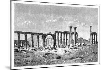 A Ruined Colonnade at Palmyra (Tadmu), Syria, 1895--Mounted Giclee Print