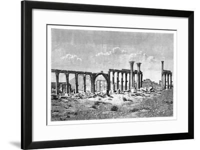 A Ruined Colonnade at Palmyra (Tadmu), Syria, 1895--Framed Giclee Print
