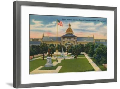 Union Station, Showing Patrick Walsh in Foreground, 1943--Framed Giclee Print