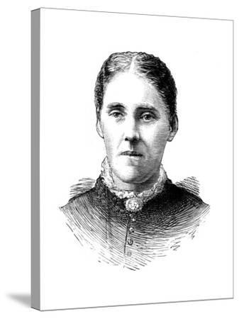 Mrs Houghton, Wife of Reverend John Houghton, 1886--Stretched Canvas Print