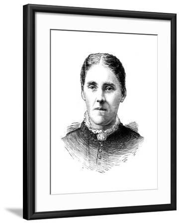 Mrs Houghton, Wife of Reverend John Houghton, 1886--Framed Giclee Print