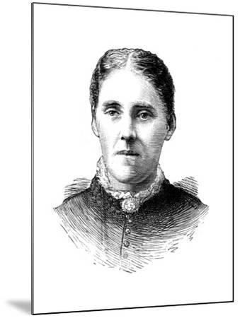 Mrs Houghton, Wife of Reverend John Houghton, 1886--Mounted Giclee Print