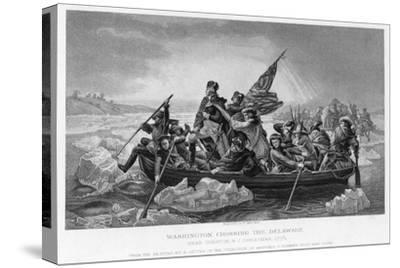Washington Crossing the Delaware, 1776-Emanuel Gottlieb Leutze-Stretched Canvas Print