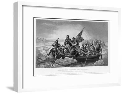 Washington Crossing the Delaware, 1776-Emanuel Gottlieb Leutze-Framed Giclee Print