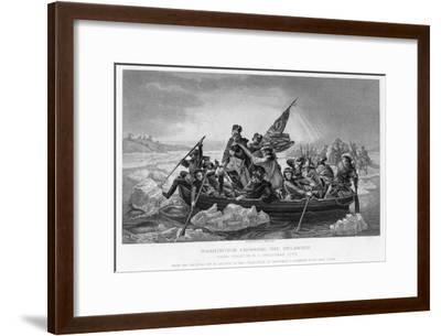 Washington Crossing the Delaware, 1776-Emanuel Gottlieb Leutze-Framed Giclee Print