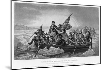 Washington Crossing the Delaware, 1776-Emanuel Gottlieb Leutze-Mounted Giclee Print