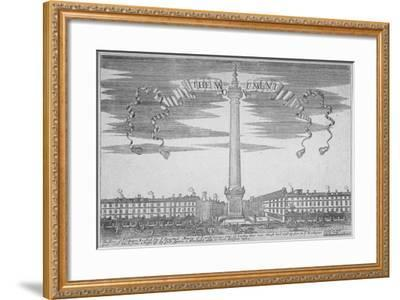 The Monument, City of London, 1700--Framed Giclee Print