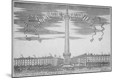 The Monument, City of London, 1700--Mounted Giclee Print