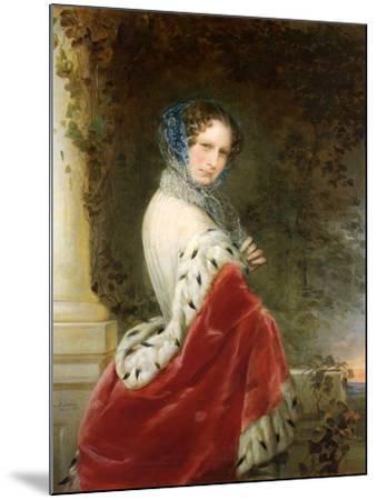 Portrait of Empress Alexandra Fyodorovna (Charlotte of Prussi), Emperor's Nicholas I Wife-Christina Robertson-Mounted Giclee Print