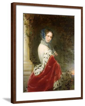 Portrait of Empress Alexandra Fyodorovna (Charlotte of Prussi), Emperor's Nicholas I Wife-Christina Robertson-Framed Giclee Print