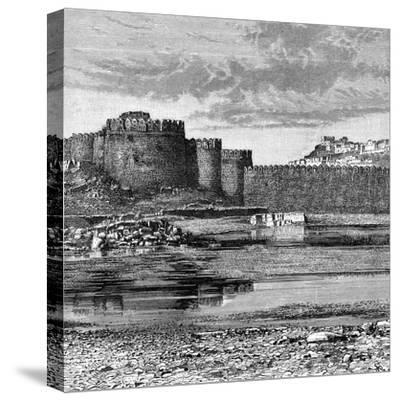 Ramparts of the Town and Citadel, Golconda, India, 1895--Stretched Canvas Print