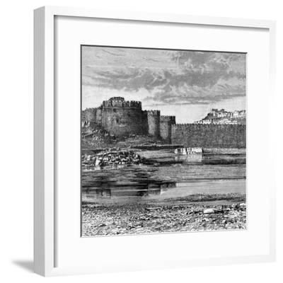 Ramparts of the Town and Citadel, Golconda, India, 1895--Framed Giclee Print