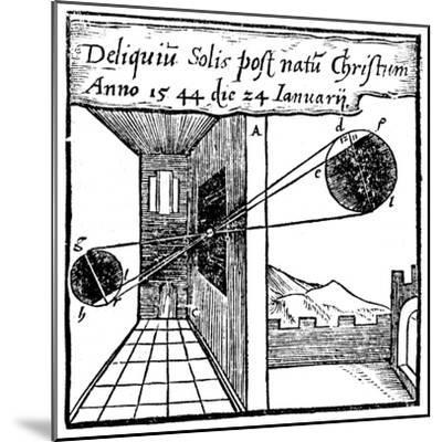 Camera Obscura, 1561--Mounted Giclee Print