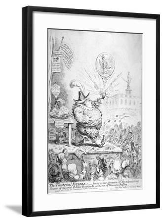 The Theatrical Bubble, 1851-James Gillray-Framed Giclee Print
