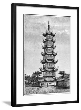 The Tower of Long-Hua, Shanghai, China, 1895--Framed Giclee Print