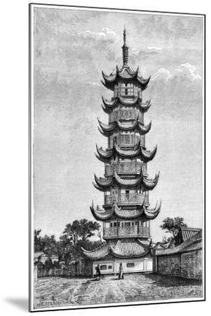 The Tower of Long-Hua, Shanghai, China, 1895--Mounted Giclee Print