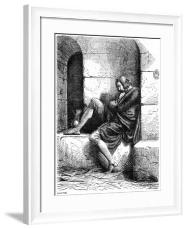 Robert of Normandy a Prisoner in Cardiff Castle- Oupre-Framed Giclee Print
