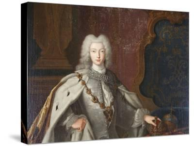 Portrait of Peter II, C1728--Stretched Canvas Print