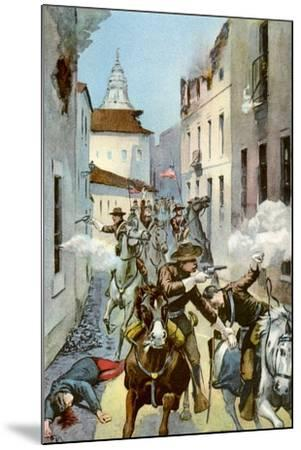 Street Fight in Santiago, Cuba, Spanish-American War, 1898--Mounted Giclee Print