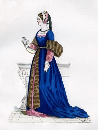 Lady from the Court of Francis I of France, 16th Century (1882-188)--Framed Giclee Print