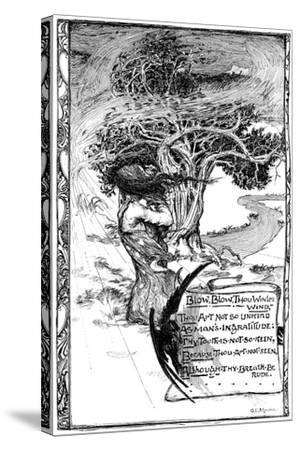 Blow, Blow, Thou Winter Wind, 1895-Giraldo Eduardo Lobo de Moura-Stretched Canvas Print