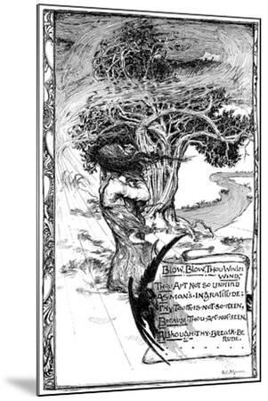 Blow, Blow, Thou Winter Wind, 1895-Giraldo Eduardo Lobo de Moura-Mounted Giclee Print