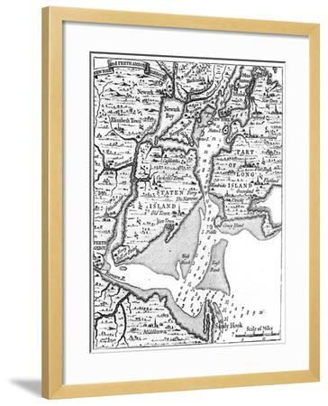 Map of New York About the Middle of the 18th Century, C1880--Framed Giclee Print
