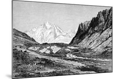 The Shchurovskiy Glacier, Russia, 1895--Mounted Giclee Print