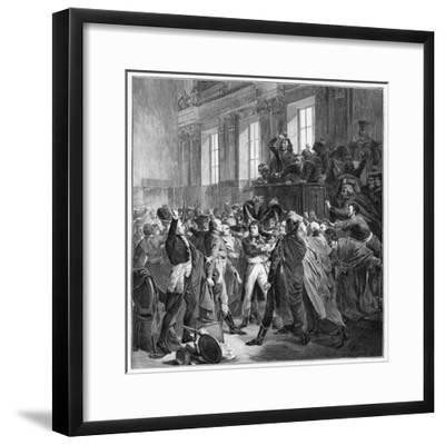 Bonaparte and the Council of Five Hundred at St Cloud, 10th November 1799-François Bouchot-Framed Giclee Print