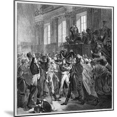 Bonaparte and the Council of Five Hundred at St Cloud, 10th November 1799-François Bouchot-Mounted Giclee Print