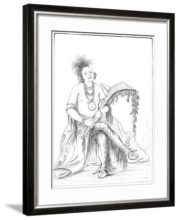 Osage, Fort Gibson, Arkansas, 1841- Tofswill and Myers-Framed Giclee Print