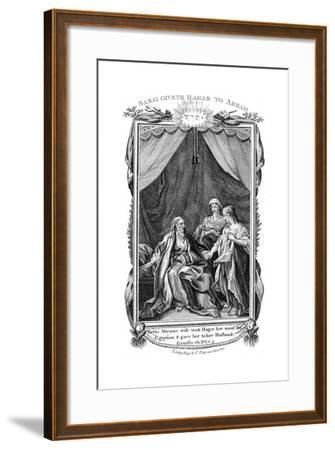 Sarah, Abraham's Wife, Being Barren, Offers Hagar Her Maid to Her Husband, C1804--Framed Giclee Print