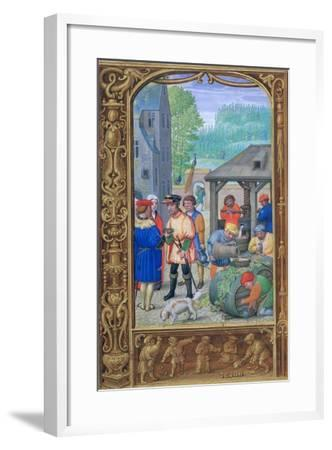 October, Wine-Making, Early 16th Century--Framed Giclee Print