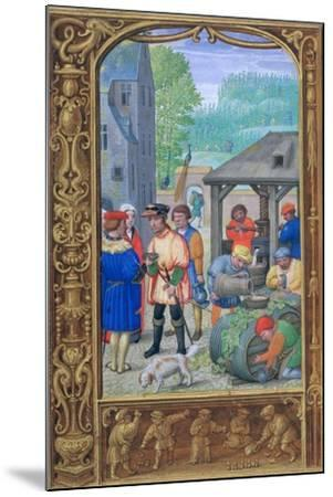 October, Wine-Making, Early 16th Century--Mounted Giclee Print