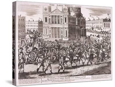 Lord Mayor's Show, 1816--Stretched Canvas Print
