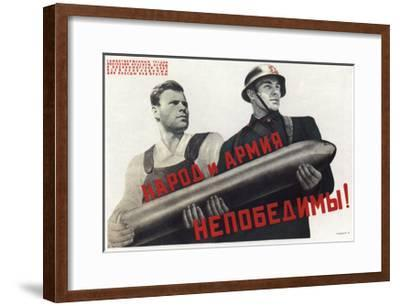 The People and the Army are Invincible!, 1941-Viktor Borisovich Koretsky-Framed Giclee Print
