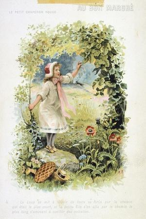 Litttle Red Riding Hood, 19th Century--Stretched Canvas Print
