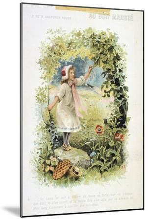 Litttle Red Riding Hood, 19th Century--Mounted Giclee Print