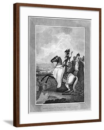 Queen Elizabeth I Rallying Her Troops at Tilbury, 1588--Framed Giclee Print