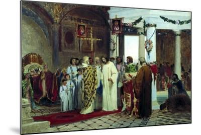 The Baptism of Grand Prince of Kiev Vladimir the Great in 987, 1883-Feodor Andreyevich Bronnikov-Mounted Giclee Print