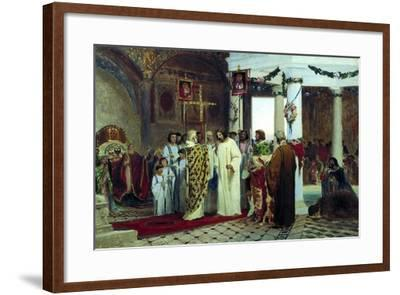 The Baptism of Grand Prince of Kiev Vladimir the Great in 987, 1883-Feodor Andreyevich Bronnikov-Framed Giclee Print