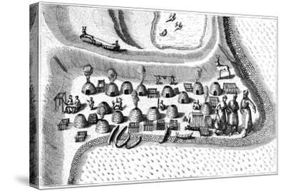Settlement in Russian Lapland, 1594-Jan Huygen Von Linschoten-Stretched Canvas Print